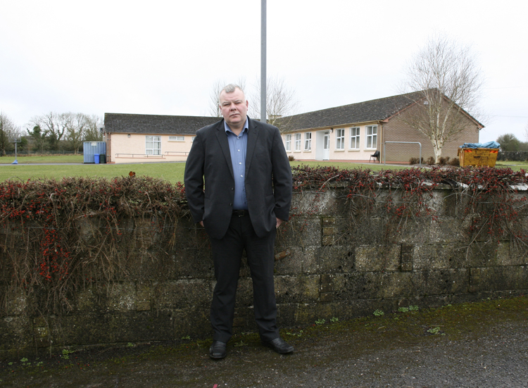 Michael outside Glinsk National School where he is a member of the Board of Management.