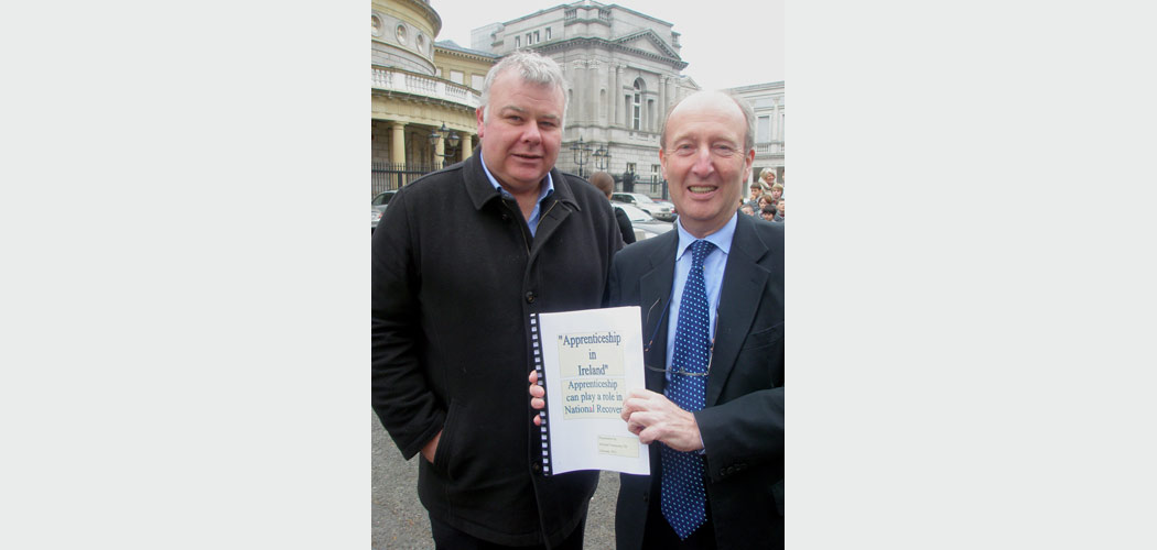 Michael Fitzmaurice presents the Apprenticeship Proposal to Shane Ross